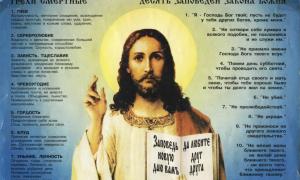 Десять Божьих заповедей: толкование в православии, перечень семи смертных грехов
