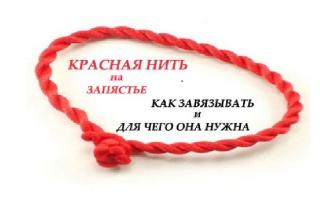 Молитва при завязывании красной нити на запястье: как сделать оберег из красной нити