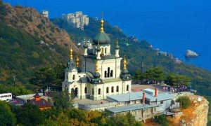 Где в Крыму находится Форосская церковь на Красной Скале?